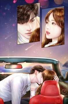 [My Secret Romance] Korean Drama Cute Couple Drawings, Cute Couple Art, Anime Love Couple, Couple Cartoon, Cute Anime Couples, Sweet Couples, Sung Hoon My Secret Romance, Anime Love Story, Cute Love Pictures