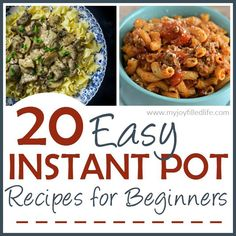 20 Easy Instant Pot Recipes for Beginners via @slavila