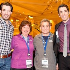 Our photo with THE Property Brothers during our Budget Blinds Annual Convention last week.  They gave a great keynote address!  Did you know they have two other shows:  Buying and Selling and Brother vs. Brother?  www.budgetblinds.com/enfield