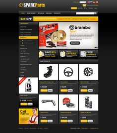 Auto Parts #OsCommerce Template #48077