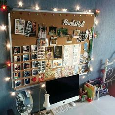 decor tiener THIS is what I need for my room and photos! … decor tiener THIS is what I need for my room and photos! THIS is what I need for my room and photos! Study Room Decor, Cute Room Decor, Girl Decor, Cheap Room Decor, Cork Board Ideas For Bedroom, Room Ideas Bedroom, Diy Cork Board, My Room, Dorm Room