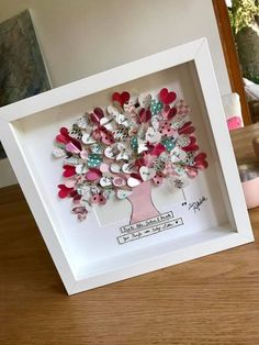 Lebensbaum mit persönlichen Wünschen LOVETREE Picture tree of life UNIKAT All personal wishes are incorporated into the picture. First Home Gifts, New Home Gifts, Diy For Kids, Gifts For Kids, Gift Baskets For Women, Picture Tree, Fabric Labels, Diy Tattoo, Diy Birthday