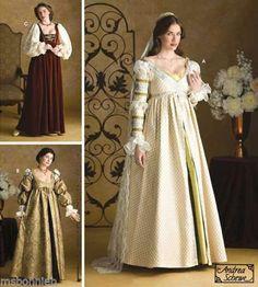 Renaissance Maiden, Court & Wedding Dress Pattern S3812