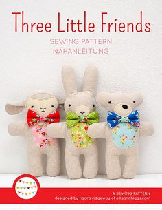 This listing is for a digital PDF pattern of the Lambkin, Bunny and Bear softies The pattern (19 pages, 18 MB) is available both in english and german. You can download and print it out immediately after purchase (Acrobat Reader required, www.adobe.com). THIS PATTERN INCLUDES: - Cover