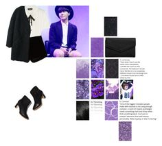 """j-hope - violet."" by pouting ❤ liked on Polyvore featuring Graham & Brown, LULUS, Rochas, Andrew Gn, Kenzo and Rupert Sanderson"