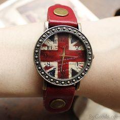 Retro Handmade British Flag Watches only $22.99
