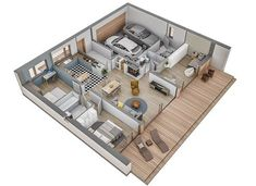 Murator C365j Przejrzysty - wariant X - zdjęcie 9 Indian House Plans, My House Plans, Sims House Design, Duplex House Design, Apartment Layout, Apartment Design, Home Building Design, Building A House, Small Modern House Plans