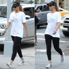 Rihanna wearing 40oz Van studios cap, Puma No 1 logo t-shirt and Pulse XT Geo training shoes, Celine Audrey sunglasses