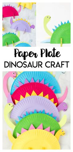 This Paper Plate Dinosaur is a great craft for dinosaur loving kids! Grab a few supplies around the house to make your favorite prehistoric friends. Dinosaur Crafts Kids, Dinosaur Activities, Craft Activities For Kids, Paper Dinosaur, Crafts For Kindergarten, Dinosaur Dinosaur, Elderly Activities, Dementia Activities, Vocabulary Activities