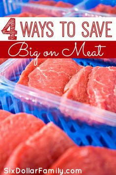 Buying meat can be a huge drain on your grocery budget, but not anymore! Check out these 4 tips for saving big on meat before you shop next!
