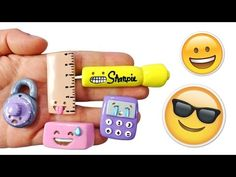 DIY EMOJI BACK TO SCHOOL SUPPLIES! Polymer Clay Tutorial - YouTube
