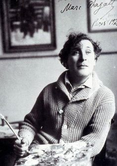 "Marc Chagall, Moscow 1921 ""Art is the increasing effort to compete with the beauty of flowers – and never succeeding."" — Marc Chagall #Jewish #art #marc-chagall #marcchagall #MarcChagall #chagall"