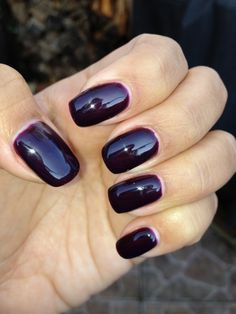 Gelish- All About Me, it matches Wicked by Essie, even though it doesn't really look like it from these pics