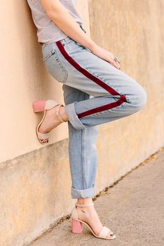 Try This Trend: No-Sew DIY Side-Stripe Pants