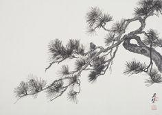 pine tree art - Google 検索