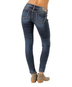 Look at this #zulilyfind! Indigo Mid-Fit Aiko Skinny Jeans - Women by Silver Jeans Co. #zulilyfinds