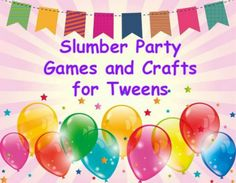 How I hosted the perfect slumber party for my 11 year old daughter. Crafts with directions, menus, games and other ideas are outlined here.
