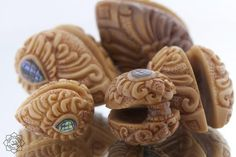 Ear Weights made from Tagua Nut/Seed, eco-friendly. Length is approx. Priced per pair. Available in different shades of beige. Shades Of Beige, Weights, Hand Carved, Eco Friendly, Seeds, Handmade Items, Carving, Ear, Products