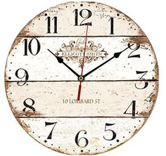 ChezMax Vintage European Creative Frameless Wooden Electronic Wall Clock of French Country Tuscan Style DIY Assembling Clock Tuscan Home Decorating, French Country Decorating, Tuscan Design, Tuscan Style, Fixer Upper Decor, French Country Rug, Diy Rustic Decor, Thing 1, Wood Clocks