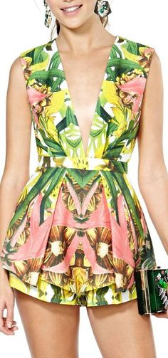 Something to rock post BA! tropical print romper
