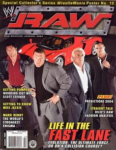 wwe raw magazine january 2004