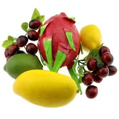 Gresorth Fake Fruit Pitaya Cheery Bunche Mango Lemon Set Decoration for Home Party >>> Be sure to check out this awesome product.