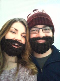 crocheted beard pattern - hilarious and perfect for my brother