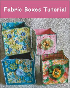 Geta's Quilting Studio: Sewing and Quilting Tutorials fabric boxes Quilting Tutorials, Sewing Tutorials, Sewing Patterns, Bag Tutorials, Purse Patterns, Small Sewing Projects, Sewing Hacks, Fabric Boxes Tutorial, Purse Tutorial
