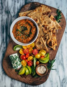 A velvety vegan roasted tomato and red pepper dip that bridges the seasons beautifully