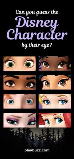 Can you guess the Disney character by their eye? Good luck.