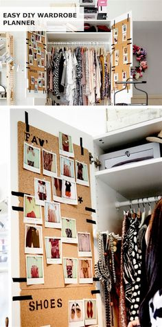 Create an easy DIY wardrobe planner in your closet with IKEA AVSKILD placemats!