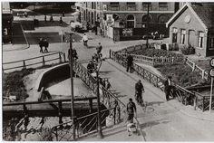 Groningen<br />De stad Groningen: Korrebrug 1936 gezien naar het zuiden
