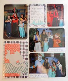Fun aladdin page with Project Life and Cricut cuts made by Cool Beans by L.B.: 5 From Aladdin