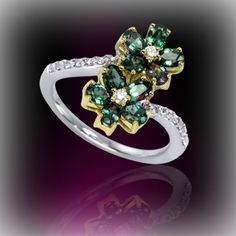 Misterious Alexandrite - Emerald by Day, Ruby by Night #FineJewelry #SoloArtGallery #Beautiful #Art #SPB #Rings