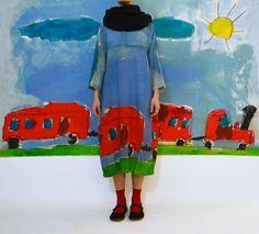 Daniela Gregis washed half shawl. I would wear this dress to school every day as my uniform.