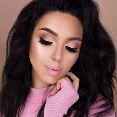 """Another look in collaboration with @toofaced using their new natural love eyeshadow palette and other products by too faced  Foundation: Born This Way in """"Nude'' Concealer - """"Fair"""" to highlight and """"Dark"""" to contour Highlighter - """"Blinded By The Light"""" Prismatic Highlighter Lips - """"Miso Pretty"""" matte liquid lipstick Eyes - Natural Love Palette ''Honey Butter'', ''Make Up and Chill"""" in my crease, ''Lace Teddy'', ''Satin Sheets'' on my lid, ''Ray of Light'' Prismatic Highlighter on my inner…"""