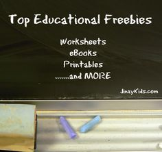 Top Educational Freebies: Flashcards, Coloring Book, Apps and MORE - Jinxy Kids