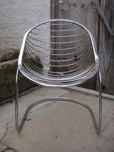 Cantilevered Chrome Chair by neotericinland on Etsy, $120.00