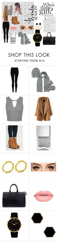 """White Christmas"" by dirb2609 on Polyvore featuring beauty, M&S Collection, Miss Selfridge, Forever 21, Ellie Vail, Louis Vuitton, Lime Crime, Larsson & Jennings and Janna Conner Designs"