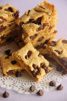 Gooey Brown Sugar Chocolate Chip Bars-Made with all brown sugar so they are extra moist and chewy!
