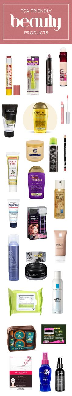 26 travel-friendly drugstore favorites to pack this summer These skin care, makeup and hair products Felt Tip Eyeliner, Best Eyeliner, Beauty Products You Need, Hair Products, Natural Hair Tips, Natural Hair Styles, Hair Color For Morena, Art Deco Hair, Beauty Secrets
