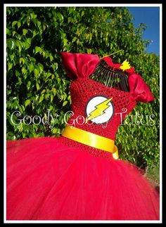 SASSY and FLASHY Flash Inspired Tutu Dress  Up by goodygoodytutus