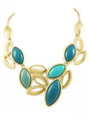 Thanks to Amy-Hampton for this website find.  Impossible to choose just one...Turquoise Leaf Necklace