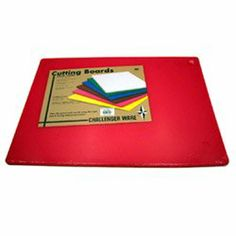 """Johnson-Rose 15"""" x 24"""" Red Cutting Board (13-0889) Category: Cutting Boards by Johnson-Rose Corporation. $17.79. Sold Individually. Item #: 13-0889. Color-coded cutting boards available in six colors. Polyethylene material is sanitary, durable, and dishwasher safe. Complies with strict NSF standards. 1/2"""" thick. Customers also search for: Restaurant Supplies\Kitchen Supplies\Cutting Boards restaurant equipment, kitchen supplies Discount 15"""" x 24"""" Red Cutting Board, Bu..."""