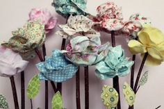 What a great idea for a Mother's Day bouquet.  Check out your fabric stashes and get crafting.