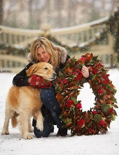I want to take a pic like this with my dog this Christmas!!