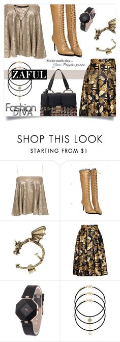 """zaful party look"" by kriz-nambikatt on Polyvore featuring Bølo and WALL"