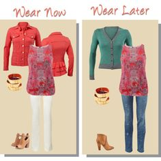 I am LOVING how the corals in the Printed Jubilee Top (from our new Fall '14 collection) coordinate with the Taylor jacket from our Spring/Summer '14 A must have for your closet! www.nancylambros.cabionline.com