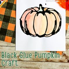 When it comes to Halloween season, pumpkin crafts are a no-brainer. This tutorial shows you how to make this adorable black glue pumpkin craft that is Drawing Activities, Craft Activities For Kids, Crafts For Kids, Halloween Season, Spirit Halloween, Halloween Crafts, Cute Pumpkin, Pumpkin Crafts, Glue Crafts