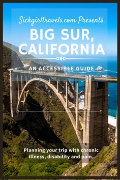 Big Sur, CA is full of stunning natural beauty. Find out where to stay, eat and play with this list of ADA compliant lodging, trails and attractions. #AccessibleTravel #DisabilityTravel #TravelForAll #SickGirlTravels #CaliforniaTravel #PacificCoastHighway #BigSur #BigSurTravel #California #USA #Camping #Hiking #Surfing Big Sur California, California Travel, Visit California, Pacific Coast Highway, Pacific Ocean, Vacation Destinations, Dream Vacations, Vacation Spots, Cool Places To Visit
